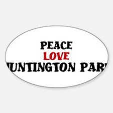 Peace Love Huntington Park Oval Decal