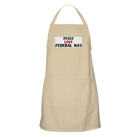 Peace Love Federal Way BBQ Apron