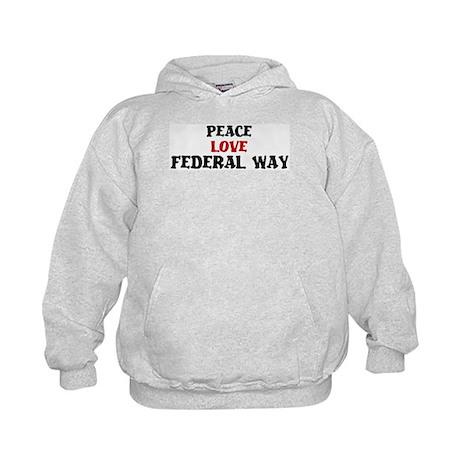 Peace Love Federal Way Kids Hoodie