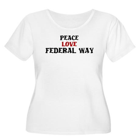 Peace Love Federal Way Women's Plus Size Scoop Nec