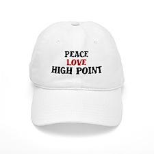 Peace Love High Point Baseball Cap