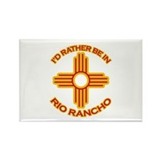 I'd Rather Be In Rio Rancho Rectangle Magnet