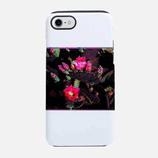 Pink Cacti Flowers iPhone 7 Tough Case