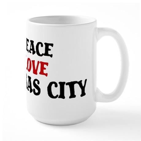 Peace Love Kansas City Large Mug