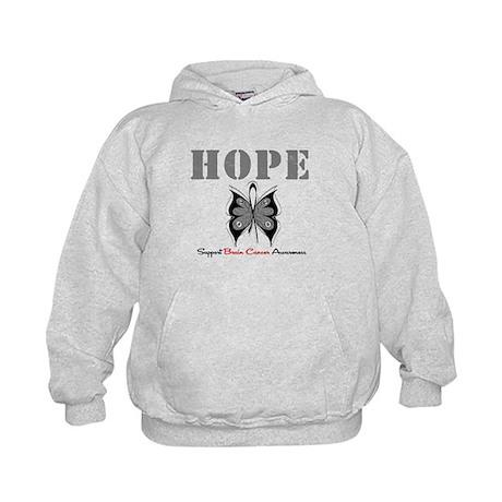 HopeButterfly BrainCancer Kids Hoodie