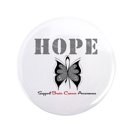 "HopeButterfly BrainCancer 3.5"" Button (100 pack)"