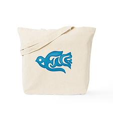 Blue Peace Dove Tote Bag