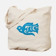 Blue Peace Dove Tote Bag