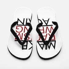 make racism wrong again black lives mat Flip Flops