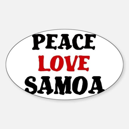 Peace Love Samoa Oval Decal