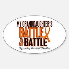 My Battle Too (Granddaughter) Orange Decal