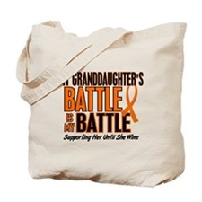 My Battle Too (Granddaughter) Orange Tote Bag