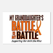 My Battle Too (Granddaughter) Orange Postcards (Pa