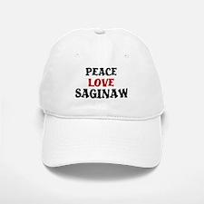 Peace Love Saginaw Baseball Baseball Cap