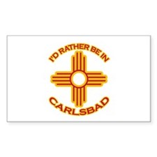 I'd Rather Be In Carlsbad Rectangle Decal