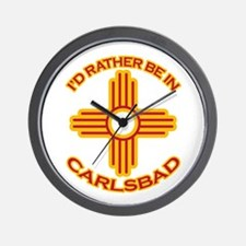 I'd Rather Be In Carlsbad Wall Clock