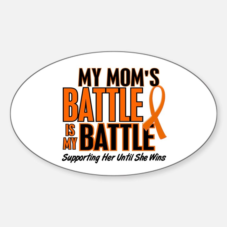 My Battle Too (Mom) Orange Oval Decal