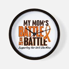 My Battle Too (Mom) Orange Wall Clock