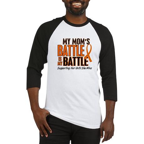My Battle Too (Mom) Orange Baseball Jersey