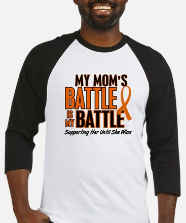My Battle Too (Mom) Orange Baseball Jersey