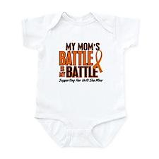 My Battle Too (Mom) Orange Infant Bodysuit