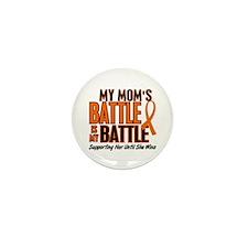 My Battle Too (Mom) Orange Mini Button (10 pack)