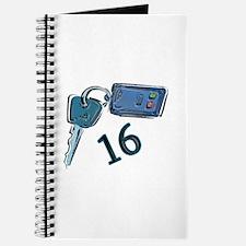 16th B-day Car Keys Journal
