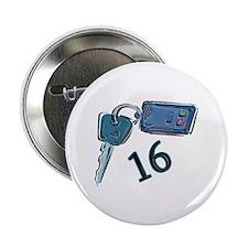 """16th B-day Car Keys 2.25"""" Button"""