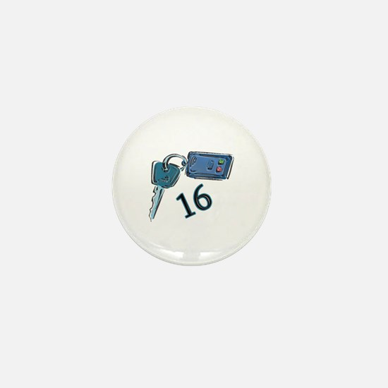 16th B-day Car Keys Mini Button
