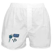 16th B-day Car Keys Boxer Shorts
