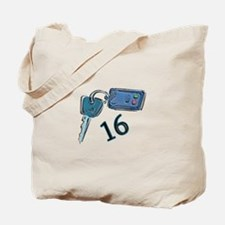 16th B-day Car Keys Tote Bag