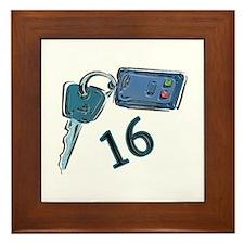 16th B-day Car Keys Framed Tile