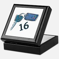 16th B-day Car Keys Keepsake Box