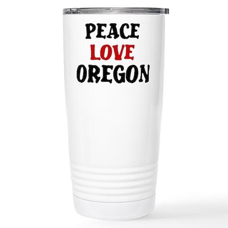 Peace Love Oregon Stainless Steel Travel Mug