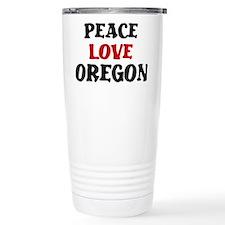 Peace Love Oregon Travel Mug