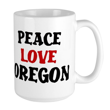 Peace Love Oregon Large Mug