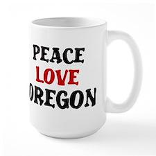 Peace Love Oregon Mug