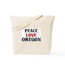 Peace Love Oregon Tote Bag