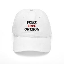 Peace Love Oregon Baseball Cap