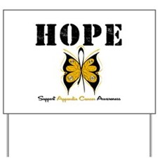 AppendixCancer Butterfly Yard Sign