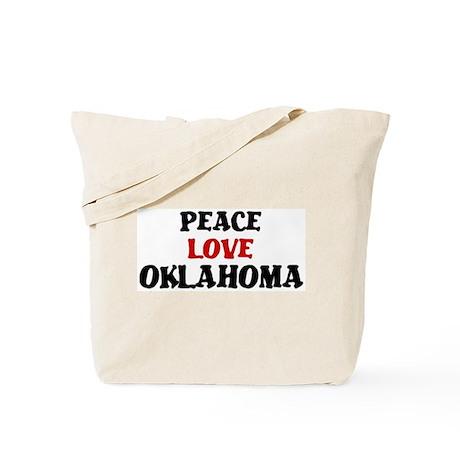 Peace Love Oklahoma Tote Bag