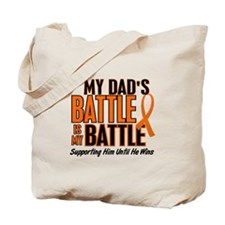 My Battle Too (Dad) Orange Tote Bag