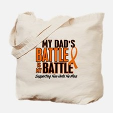 My Battle Too (Dad) Orange Tote Bag