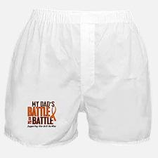 My Battle Too (Dad) Orange Boxer Shorts