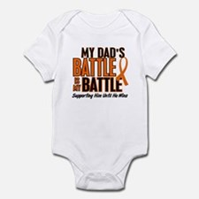 My Battle Too (Dad) Orange Infant Bodysuit