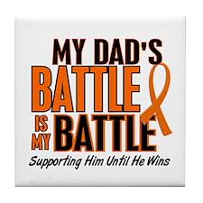 My Battle Too (Dad) Orange Tile Coaster