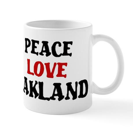 Peace Love Oakland Mug