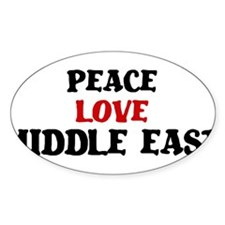 Peace Love Middle East Oval Decal
