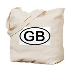 Great Britain - GB - Oval Tote Bag