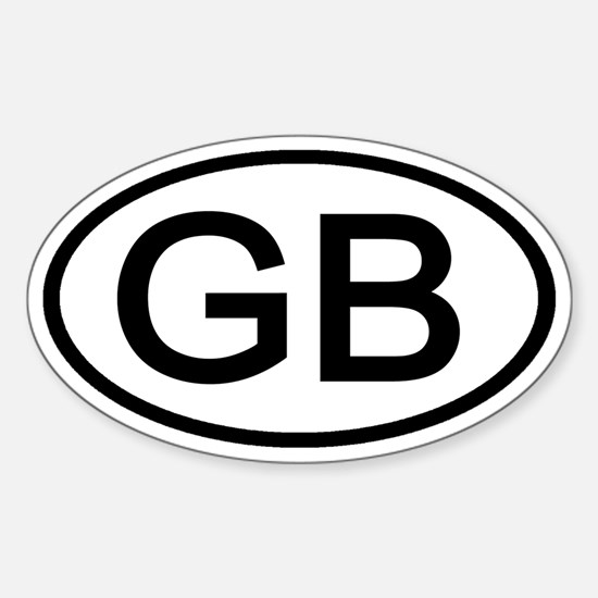 Great Britain - GB - Oval Oval Decal